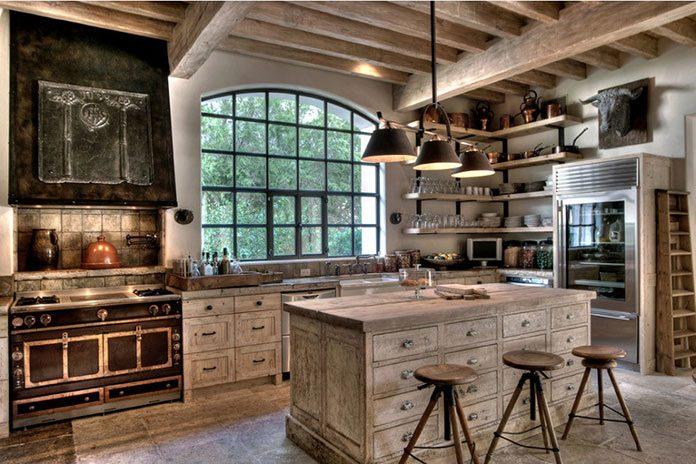 Powiew swojskości w kuchni, styl rustykalny