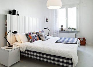 Sypialnia z czarnymi dodatkami