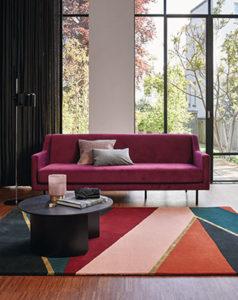 Dekoracja podłogi w salonie - ręcznie tkany dywan