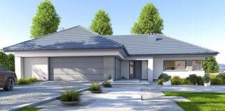 Projekty domów parterowych, projekt domu parterowego